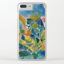 Paul Klee - Flower Bed. Clear iPhone Case