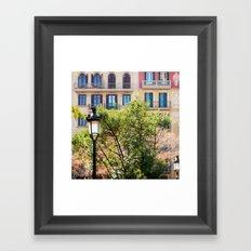 Spring time in Barcelona Framed Art Print