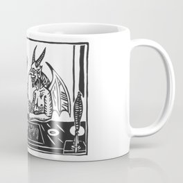 Two Devils Putting the World to Rights Coffee Mug