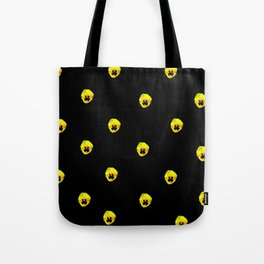 YELLOW  PANSY FLOWERS SPRINKLED ON MIDNIGHT BLACK Tote Bag