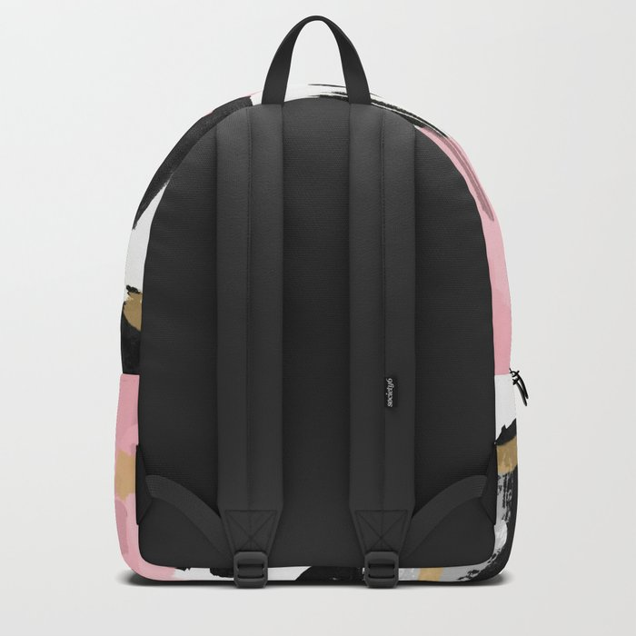 Mosaic Abstract Pink, Black Backpack