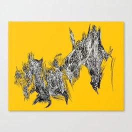 Waterfall in Yellow Canvas Print