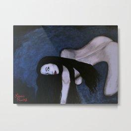 Sensual Dark Beauty Metal Print
