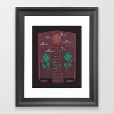 The Towering Bed and Breakfast of Unparalleled Hospitality Framed Art Print