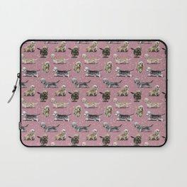 The Pink Dandie Dinmont Terrier Laptop Sleeve