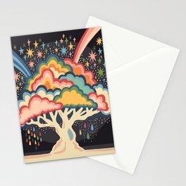 Rainbow tree Stationery Cards