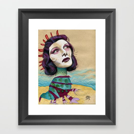 SHORE Framed Art Print