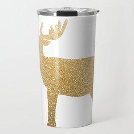 Standing Gold Deer Travel Mug