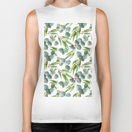 Bamboo and eucaliptus pattern Biker Tank