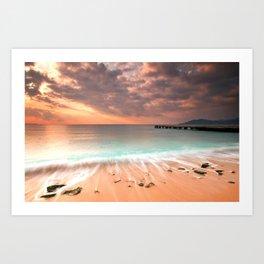 Cannes La Bocca Beach  Art Print