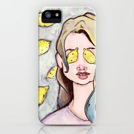 Lemon Eyes iPhone Case
