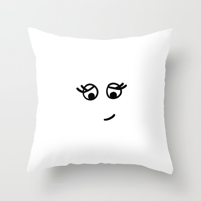 Smiling cute face Throw Pillow