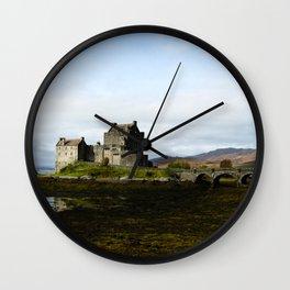 Eilean Donan - Horizontal Wall Clock