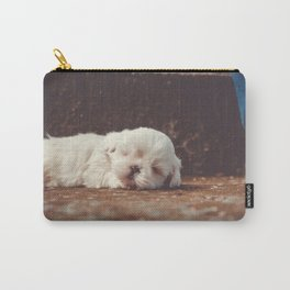 cute sleeping puppy Carry-All Pouch