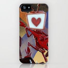 Rock Band Robot iPhone Case