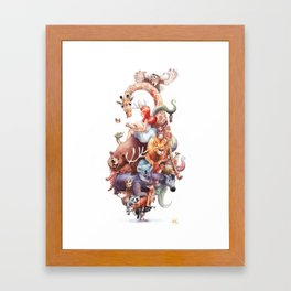 In my thoughts Framed Art Print