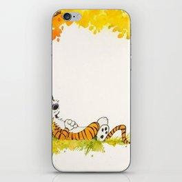 Calvin And Hobbes Cartoon iPhone Skin