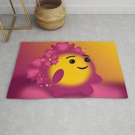 Flower power emoji Rug