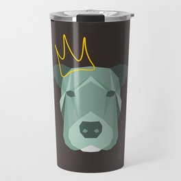 Geometric Pit Bull Royalty Travel Mug
