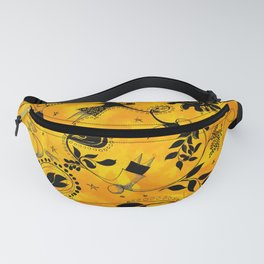 Family, friebd and love - Doddle yellow and black Fanny Pack