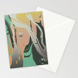 Abstract Marble 3 Stationery Cards