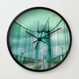St John's Bridge Portland Oregon Wall Clock