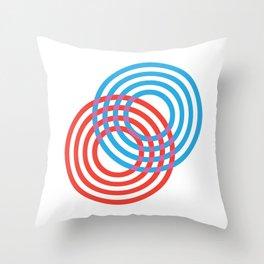 CIRLES RED BLUE 01 Throw Pillow