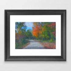 The Path  Impressionist Framed Art Print