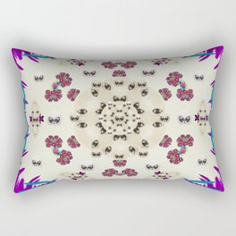 Eyes looking for the finest in life as calm love Rectangular Pillow