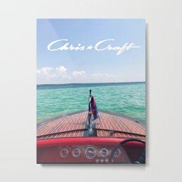 Chris Craft Boat Metal Print