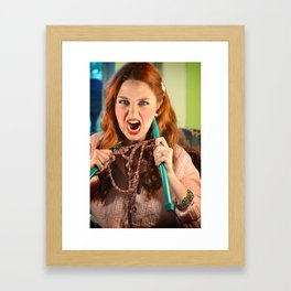 Knitting Gone Crazy Framed Art Print