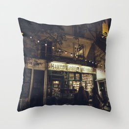 Bookstore with charm Throw Pillow
