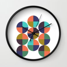 mod circles pattern Wall Clock