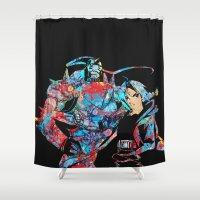fullmetal alchemist Shower Curtains featuring Fullmetal Alchemist by lauramaahs