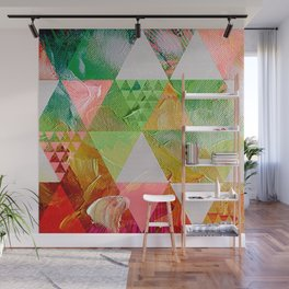 Painted triangles in a tropical jungle in a sunny afternoon Wall Mural