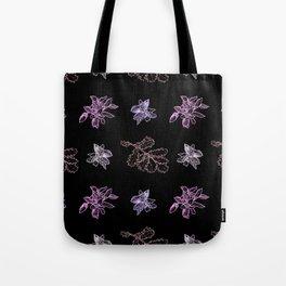 Quercus (black, purple) Tote Bag