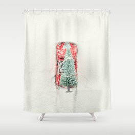 Christmas Eve in a hurry Shower Curtain
