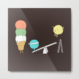 Acrobatic ice cream Metal Print