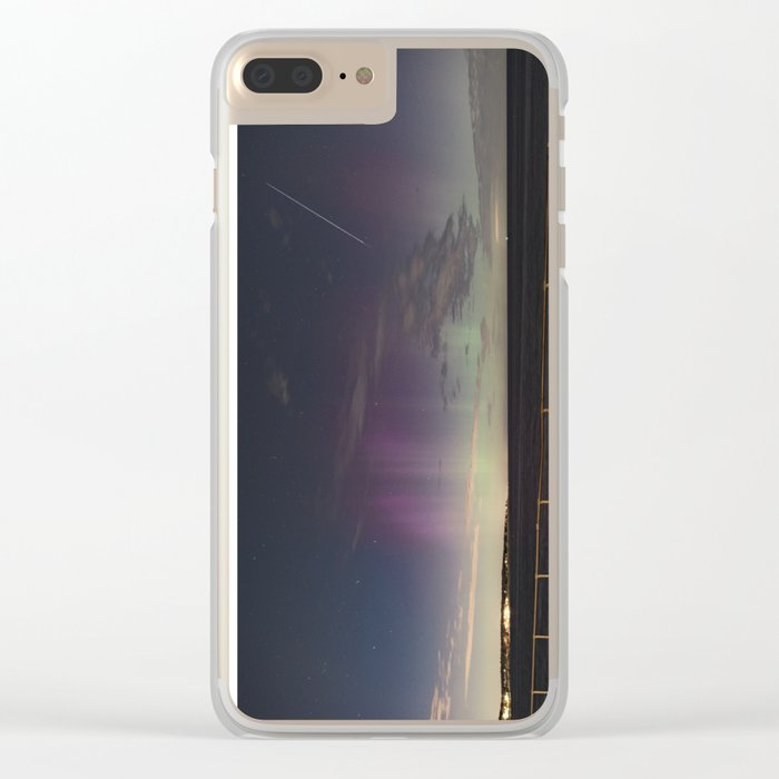 Shooting Star Aurora Clear iPhone Case