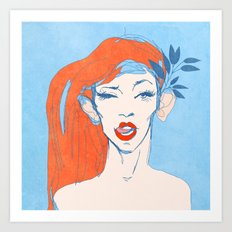 selfie girl_1 Art Print
