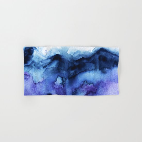 Abstract Indigo Purple Mountians Hand & Bath Towel