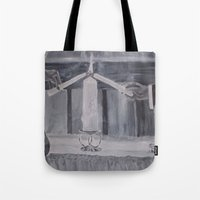 wedding Tote Bags featuring Wedding by Lark Nouveau Studio