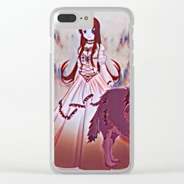 Wolf Princess Raven Clear iPhone Case