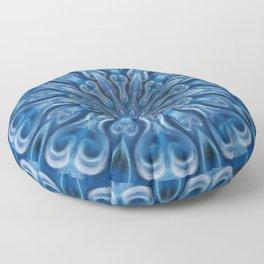 Blue Center Swirl Floor Pillow
