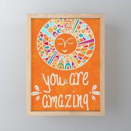 You Are Amazing Framed Mini Art Print