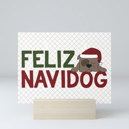 Feliz Navidog Mini Art Print