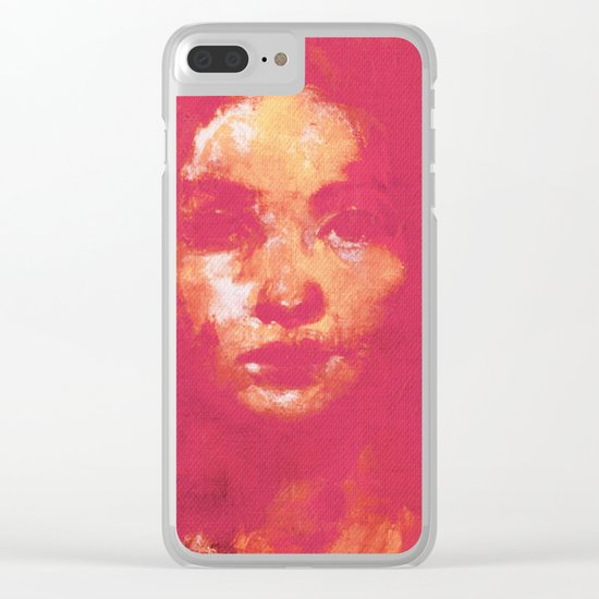 Colorful Woman 3 Clear iPhone Case