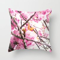 martell Throw Pillows featuring Seattle Blossoms by G Martell