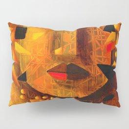Indigenous Inca Tribal Sapa Inca, Son of the Sun portrait painting by Ortega Maila Pillow Sham