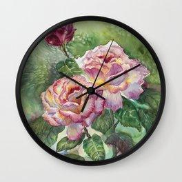 Grandma's Roses Wall Clock